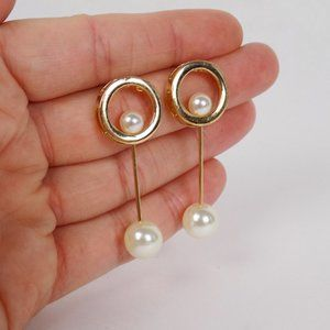 pearl statement earrings minimalist dainty